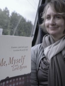 My copy of Me, Myself and Lord Byron has a British Rail ticket from Durham to Stirling as bookmark.