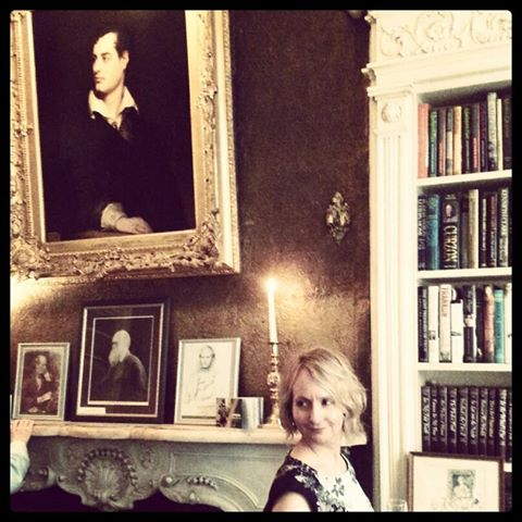 At the home/office of John Murray, Byron's publisher.