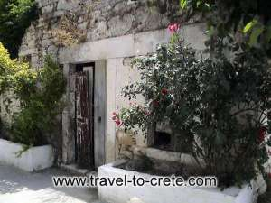 "A house in Myrtia, the village where Kazantzakis was born. Thanks to the ""Travel to Crete"" website for the photo."