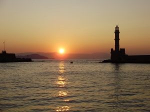 The faros (lighthouse) in the port of Chania.