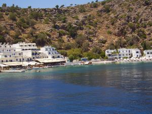Approaching Loutro, in southwest Crete.