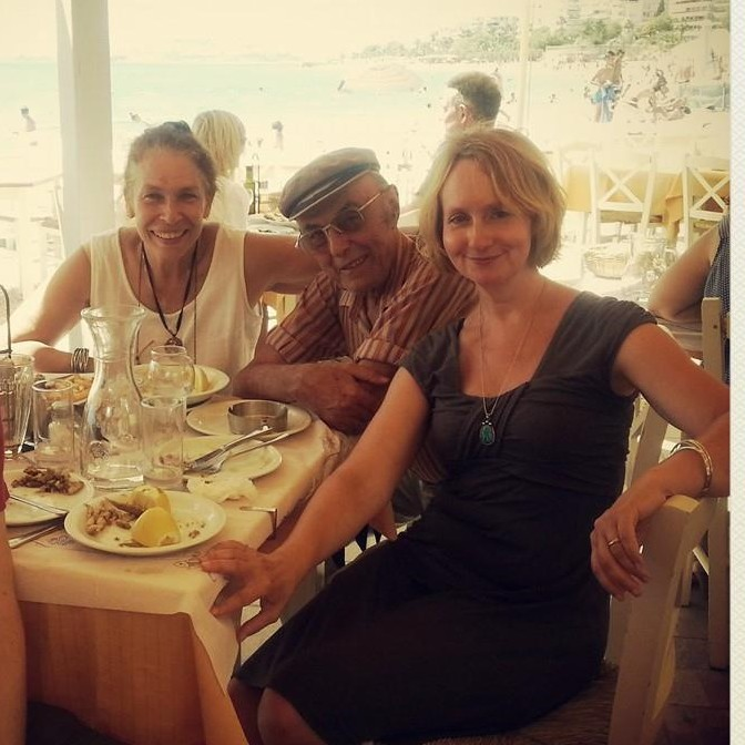 Lunch with Martha and her husband Mark by the sea in Athens.